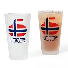 4-curlingNOb Drinking Glass