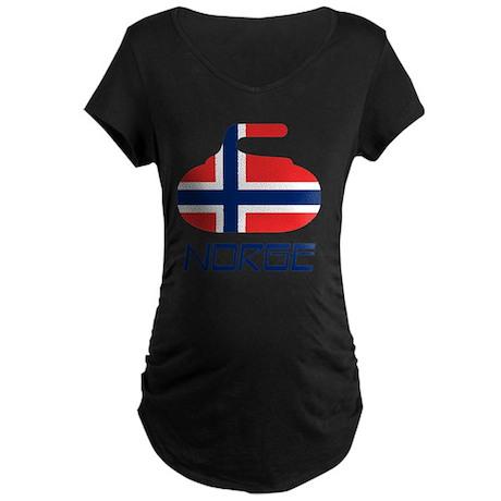 4-curlingNOb Maternity Dark T-Shirt