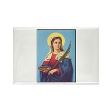 St. Lucy Rectangle Magnet