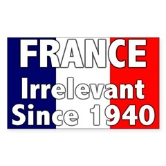France is Irrelevant Rectangle Decal