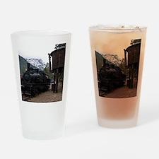 (4) shay locomotive  tower Drinking Glass