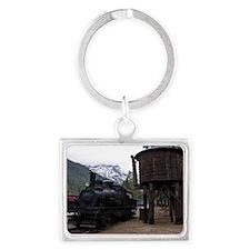 (6) shay locomotive  tower Landscape Keychain