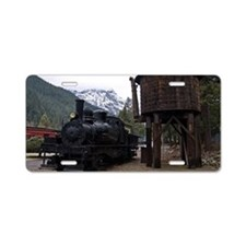 (6) shay locomotive  tower Aluminum License Plate