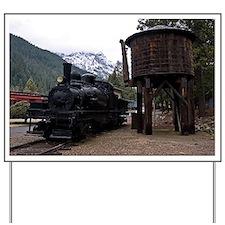 (6) shay locomotive  tower Yard Sign