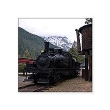 "(15) shay locomotive  tower Square Sticker 3"" x 3"""