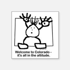 "Colorado altitude Square Sticker 3"" x 3"""