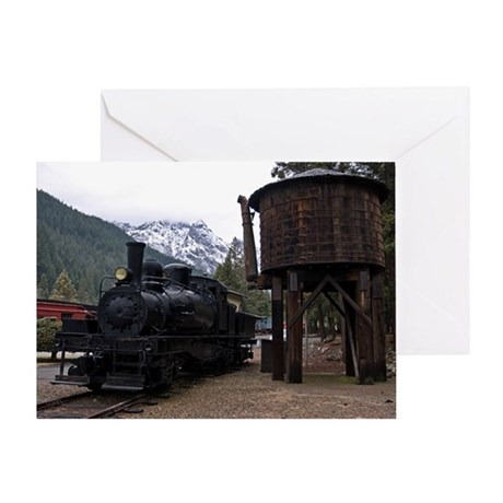 (10) shay locomotive & tower Greeting Card