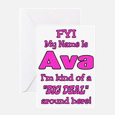Ava Greeting Card