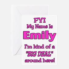 Emily Greeting Card