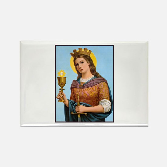 St. Barbara Rectangle Magnet