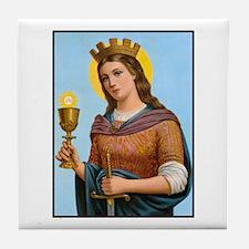 St. Barbara Tile Coaster
