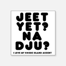 "jeetyet__black_shirt Square Sticker 3"" x 3"""