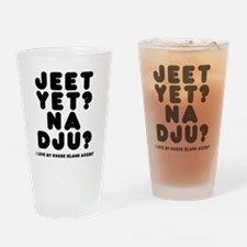 jeetyet__black_shirt Drinking Glass