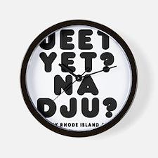 jeetyet__black_shirt Wall Clock