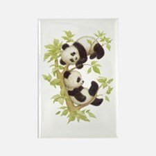 Pandas Playing In A Tree Rectangle Magnet