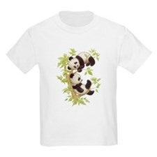 Pandas Playing In A Tree Kids T-Shirt