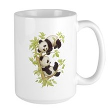 Pandas Playing In A Tree Mug