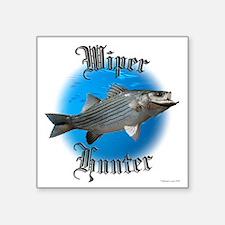 "wiper fishing Square Sticker 3"" x 3"""
