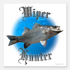 "wiper fishing Square Car Magnet 3"" x 3"""