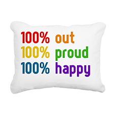 100% out Rectangular Canvas Pillow