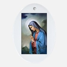 Mary Queen of Sorrows Oval Ornament