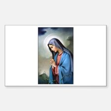 Mary Queen of Sorrows Rectangle Decal