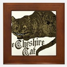 cheshire-cat_dark Framed Tile