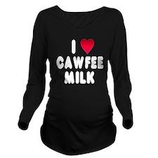 wht_luv_cawfee_milk Long Sleeve Maternity T-Shirt