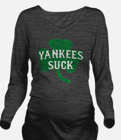 2-Yankees Suck St Pa Long Sleeve Maternity T-Shirt
