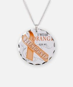 I Wear Orange for my Husband Necklace