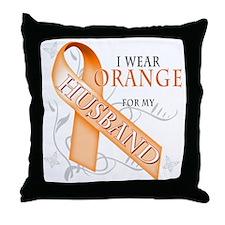 I Wear Orange for my Husband Throw Pillow
