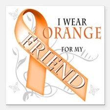 "I Wear Orange for my Fri Square Car Magnet 3"" x 3"""