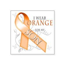"I Wear Orange for my Son Square Sticker 3"" x 3"""