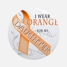 I Wear Orange for my Daughter Round Ornament