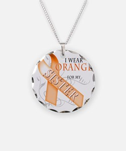 I Wear Orange for my Sister Necklace
