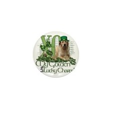 Golden_Lucky_Charm_Trans2 Mini Button