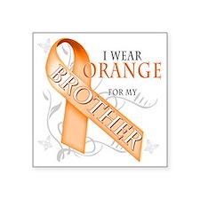 "I Wear Orange for my Brothe Square Sticker 3"" x 3"""