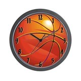 Basketball girl Wall Clocks