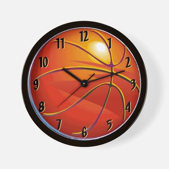 Basketball Room Decor Wall Clock