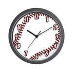 Baseball / Softball Team Wall Clock