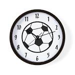 Soccer Room Decor Team Wall Clock