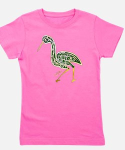 calligraphy bird 02 Girl's Tee