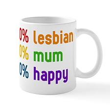 100% lesbian - 100% mum Mug