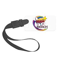 I Believe In The Beach Cute Believer Design Luggage Tag