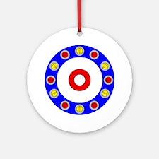 Curling Clock 8x8 Round Ornament