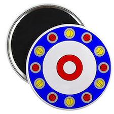 Curling Clock 8x8 Magnet