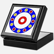 Curling Clock 8x8 Keepsake Box