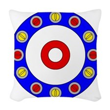 Curling Clock 8x8 Woven Throw Pillow
