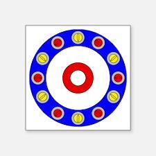 """Curling Clock 8x8 Square Sticker 3"""" x 3"""""""