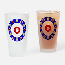 Curling Clock 8x8 Drinking Glass